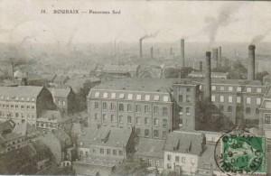 Roubaix, la ville aux 1000 cheminées (image Médiathèque de Roubaix)