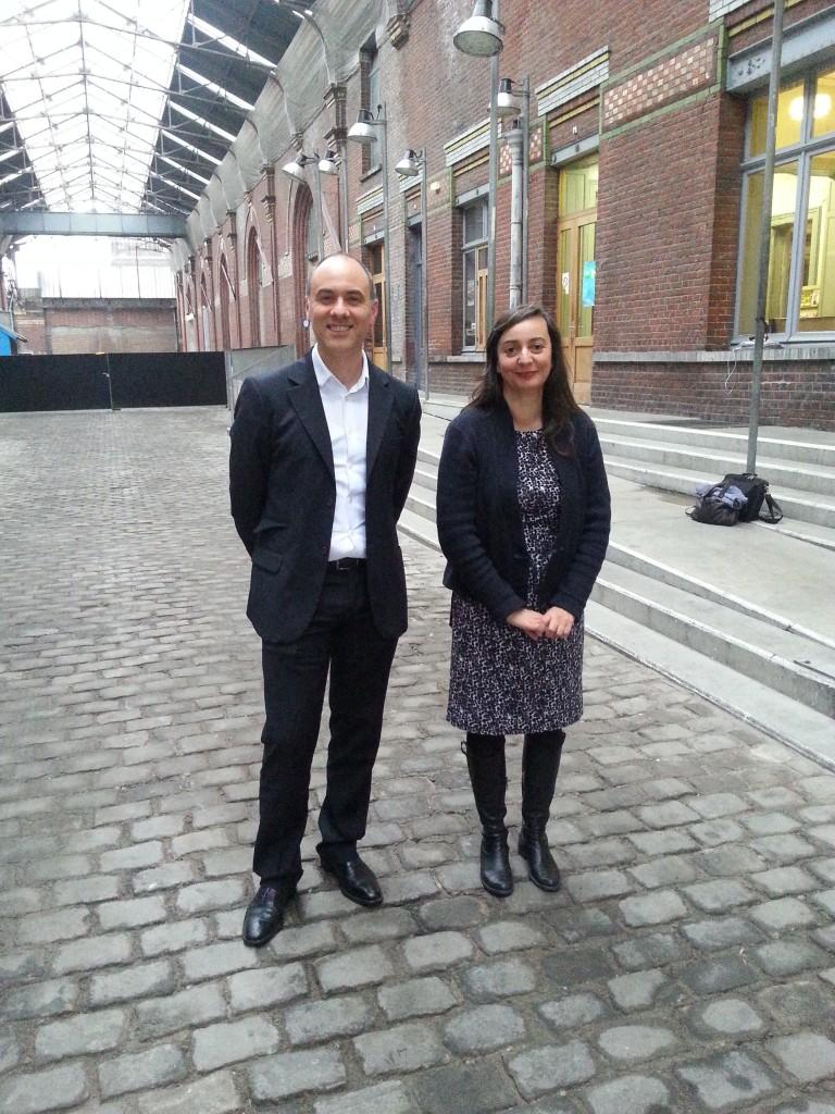 Avec Anne-Isabelle Vignaud, la directrice de la Condition Publique