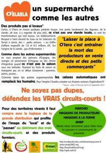 Le tract des AMAP contre O'Tera St André