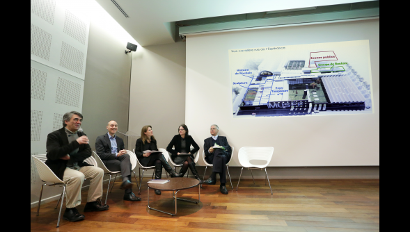 Conférence de presse à l'Auditorium de la Piscine (photo Ludovic Maillard pour Nord Eclair)