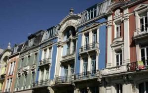Roubaix - Façades colorées Boulevard Jean Lebas