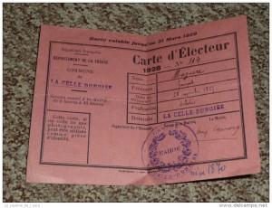 Non je n'ai pas vu une si vieille carte d'électeur ;)!